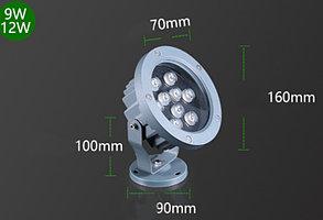 Светодиодный прожектор (вафельный) 12Вт - Теплый белый (АС220V)