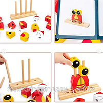 """Пазл Classic World """"Деревянная игрушка""""(лев,лягушка,сова,лиса), фото 4"""