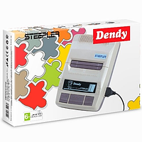 Игровая Приставка Dendy STEEPLER (Серая) + пистолет + картридж с играми(72 игры)