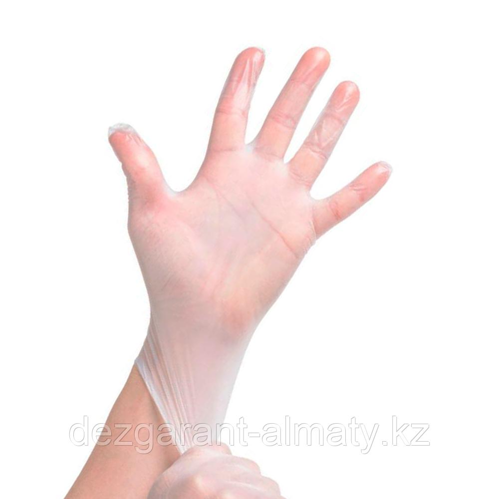 Перчатки из винила L (коробка 100 шт)