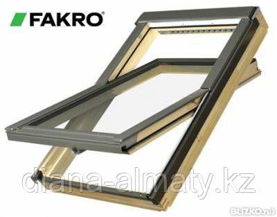 Мансардное окно 78х160  FAKRO в комплекте с окладом на гибкую черепицу тел. Whats Upp. 8-707-5705151