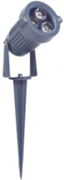 Светодиодный уличный прожектор с ножкой - 3Вт - Холодный белый