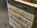 Большой деревянный горшок для цветов 60х60, фото 6