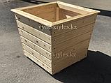 Большой деревянный горшок для цветов 60х60, фото 3