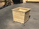 Большой деревянный горшок для цветов 60х60, фото 4