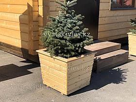 Большой деревянный горшок для цветов 60х60