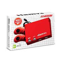 """Игровая приставка 8 bit + 16 bit """"Hamy 4"""" (350 в 1) 350 встроенных игр + 2 геймпада + USB кабель (Красная)"""
