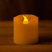 Светодиодная декоративная свеча на батарейках 5 см (тёплый свет)