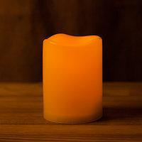 Декоративная LED свеча на батарейках 10 см (тёплый свет)