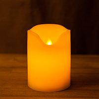 Декоративная LED свеча на батарейках 10 см с подвижным язычком (тёплый свет)