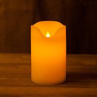 Декоративная LED свеча на батарейках 12 см с подвижным язычком (тёплый свет)