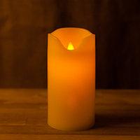 Декоративная LED свеча на батарейках 14,5 см с подвижным язычком (тёплый свет)