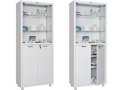 Медицинские шкафы двухстворчатые