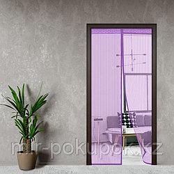 Дверная антимоскитная сетка на магнитах 120 x 215 см (москитная штора)