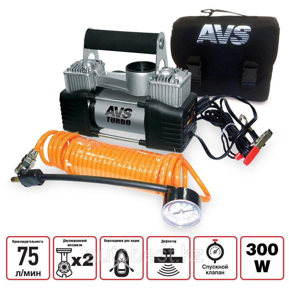 Компрессор автомобильный AVS KS750 Автокомпрессор Насос для покачки шин колеса