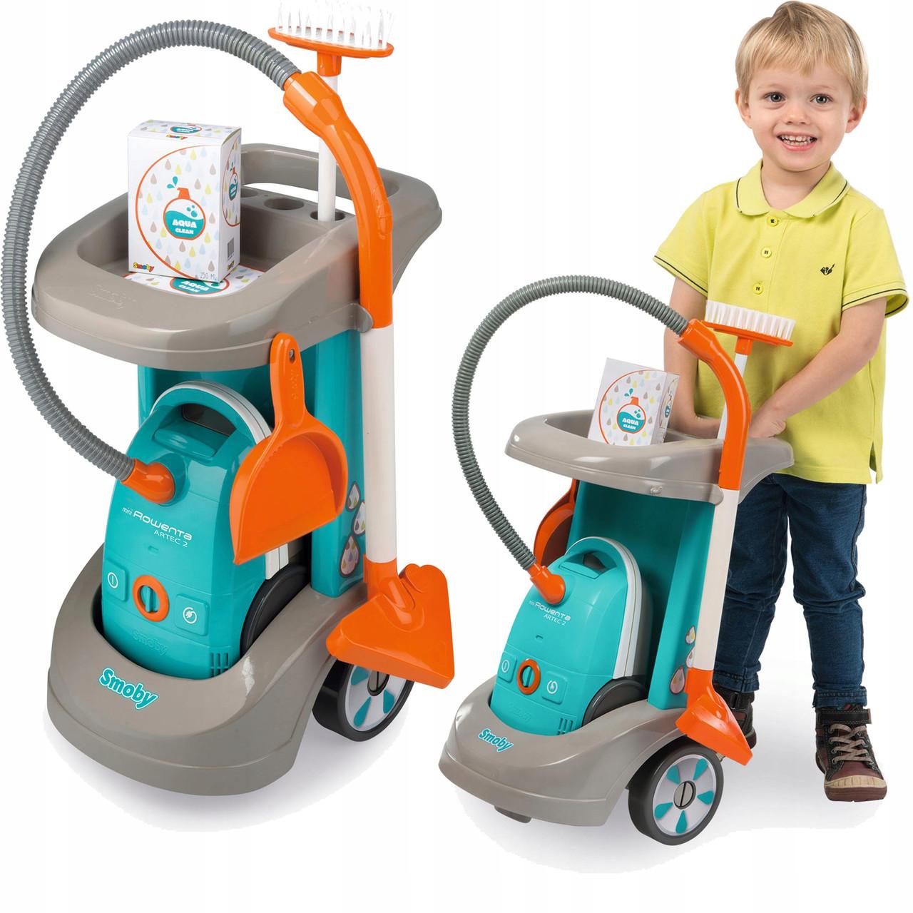 Детский игровой набор для уборки с тележкой Smoby