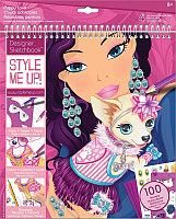 STYLE ME UP! Альбом с трафаретами Очаровательная собачка