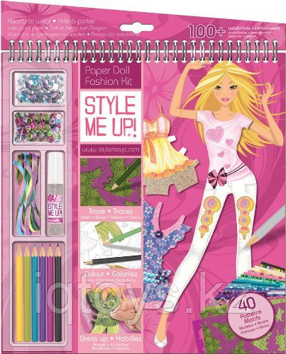 STYLE ME UP! Альбом с трафаретами Показ мод
