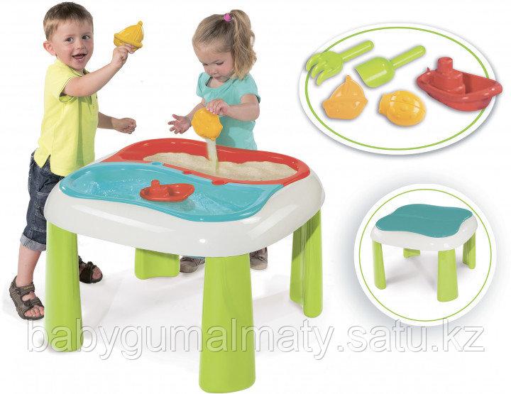 Игровой стол Smoby Toys 2 в 1 для игры с песком и водой - фото 2