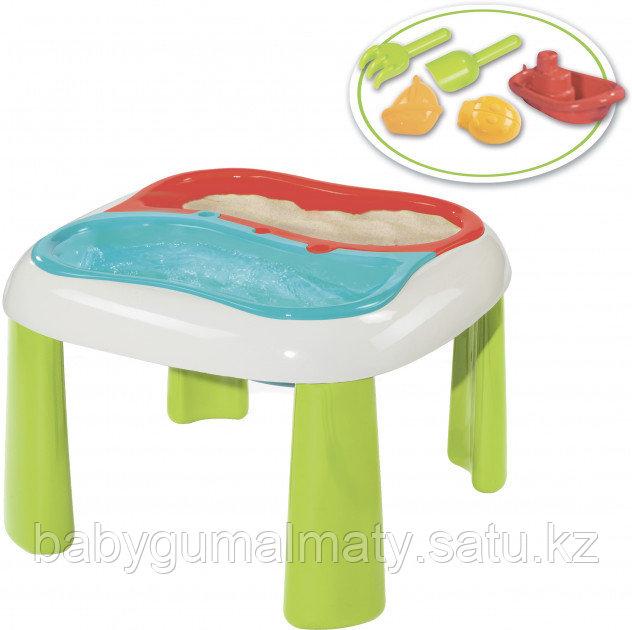Игровой стол Smoby Toys 2 в 1 для игры с песком и водой - фото 3