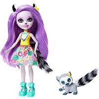 Кукла энчантималс Лариса Лемури и ее друг Ринглет Mattel Enchantimals GFN44