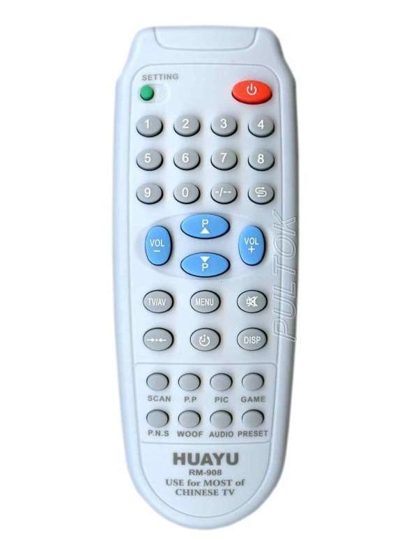 Универсальный пульт ДУ для телевизоров HUAYU RM-908 (6 кодов)