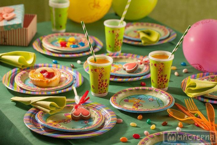 """Набор для праздника, """"Веселые Джунгли"""", на 10 персон из 69 предметов, фото 2"""