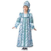 Карнавальный костюм 'Василиса сказочная', платье-сарафан, кокошник, р. 36, рост 140 см