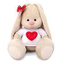 Мягкая игрушка 'Зайка Ми в футболке с сердцем', 23 см