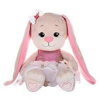 Мягкая игрушка 'Зайка Lin', в бело-розовом плате со звездочками, 20 см