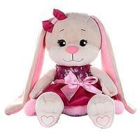 Мягкая игрушка 'Зайка Lin' в розовом платье с пайетками и мехом, 20 см