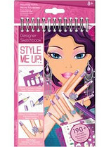 STYLE ME UP! Блокнот с трафаретами Потрясающие ручки