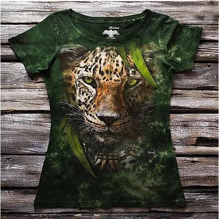 """""""Леопард"""" Женская футболка варенка с 3D принтом, фото 2"""