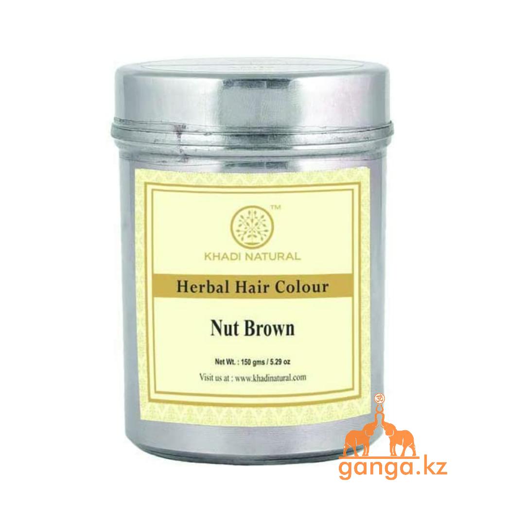 Хна для волос натуральная Каштан/Орехово-коричневая 100% (Herbal Hair Color Nut Brown KHADI), 150 гр.