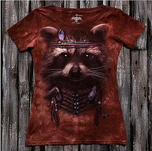 """""""Енот"""" Женская футболка варенка с 3D принтом"""