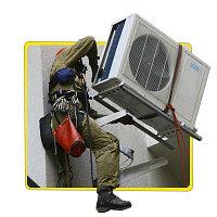 Демонтаж+Монтаж кондиционера 7-9 модели(Стена кирпич)