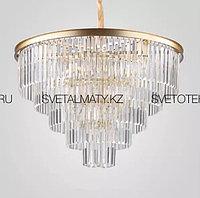 Хрустальная люстра в Американском стиле на 15 ламп золотая (матовая), фото 1