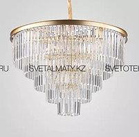 Хрустальная люстра в Американском стиле на 15 ламп золотая (матовая)