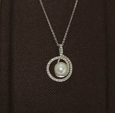 Колье с жемчугом и бриллиантами