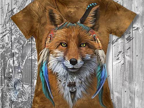"""""""Рыжая лиса"""" Женская футболка варенка с 3D принтом, фото 2"""