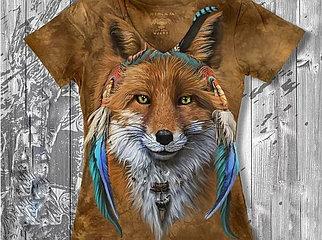 """""""Рыжая лиса"""" Женская футболка варенка с 3D принтом"""