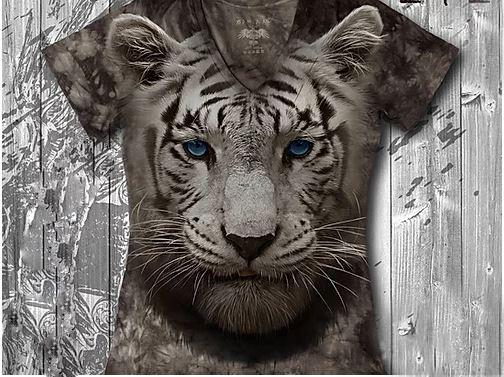 """""""Тигренок"""" Женская футболка варенка с 3D принтом"""