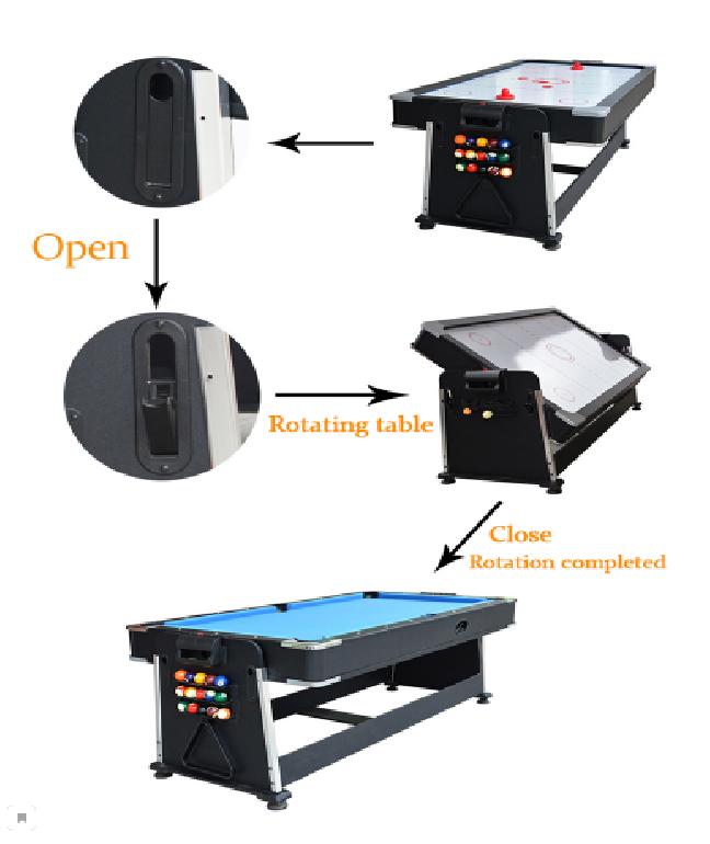 Игровой стол 3в1 7-футовый Revolver 3in1 Multi Games Table - фото 2