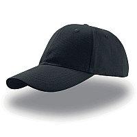 Бейсболка LIBERTY SIX, 6 клиньев, застежка на липучке, Черный, -, 25436.35