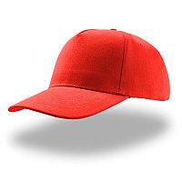 Бейсболка LIBERTY FIVE, 5 клиньев, застежка на липучке, Красный, -, 25433.08