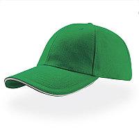 Бейсболка LIBERTY SANDWICH, 6 клиньев, сэндвич, металлическая застежка, Зеленый, -, 25435.15