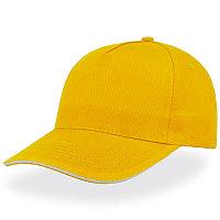 Бейсболка START FIVE SANDWICH, 5 клиньев, застежка на липучке, Желтый, -, 25439.03