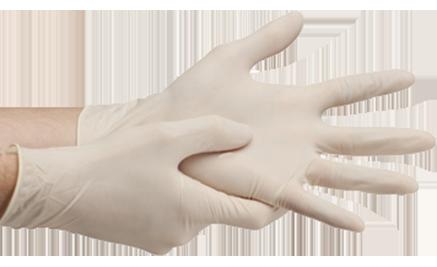 """Перчатки текстурированные латексные """"Panagloves"""" 50 пар размер M(7-8) - фото 3"""