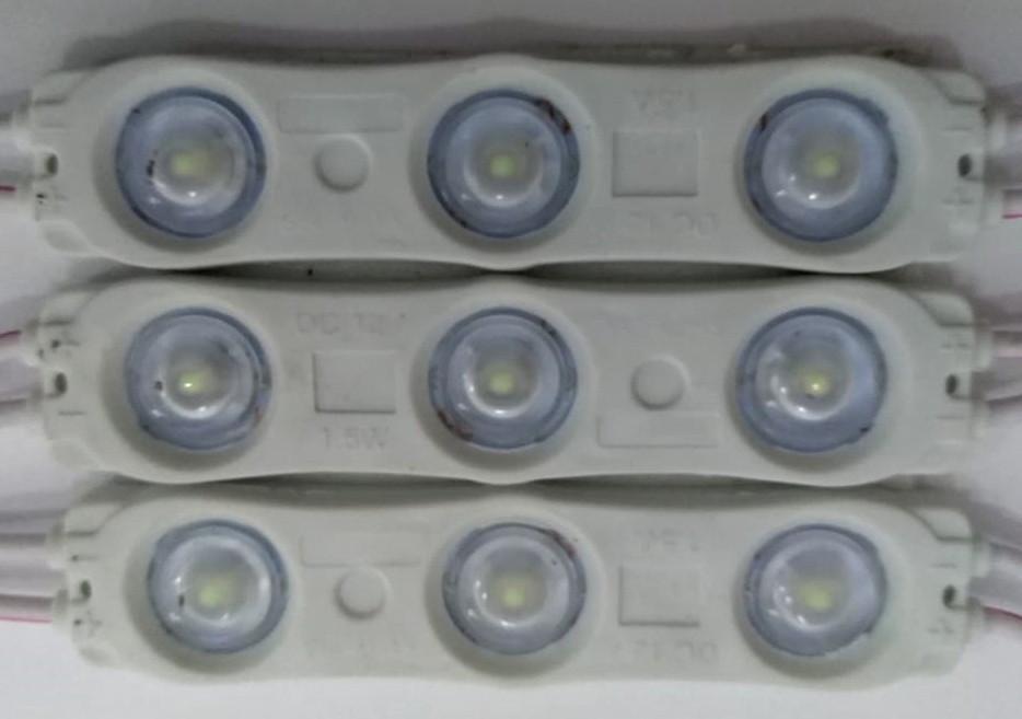 Трехточечный (2835) с линзой 1.5 W Белый