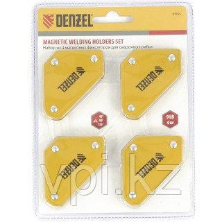 Набор магнитных фиксаторов для сварочных работ, 4шт. DENZEL